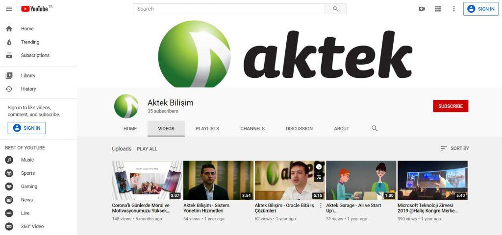 aktek youtube
