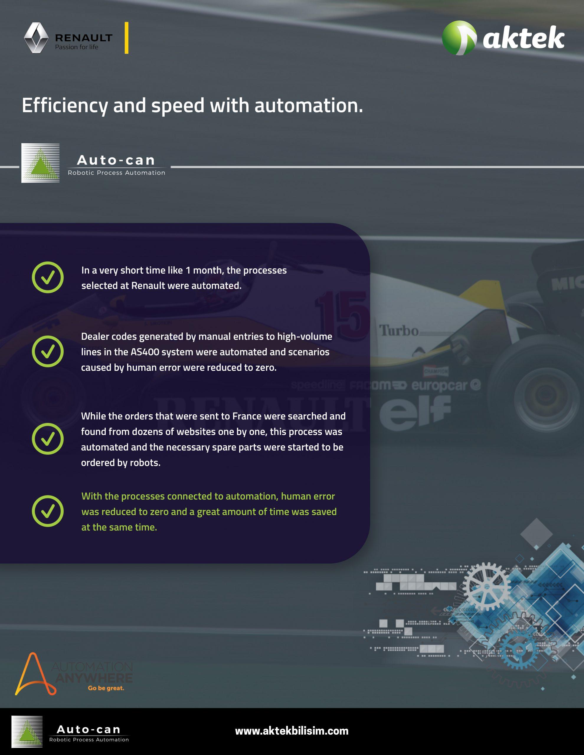 Aktek Autocan RPA & Renault Başarı Hikayesi